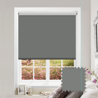 Grey Roller Blind - Bahamas Vanished Grey